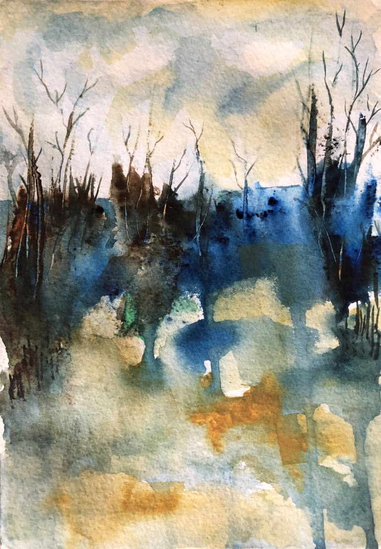 "wilderness - Water color Paintings: Water color, 5.5""×8"", USD 200"